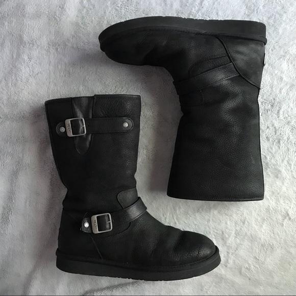 680038ddd9d UGG Australia Sutter Boot Moto Black Suede